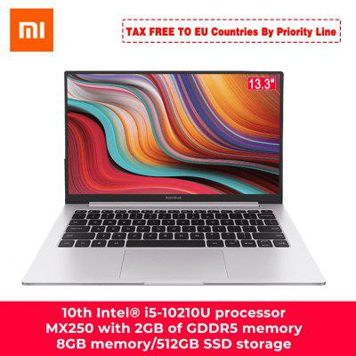 Xiaomi RedmiBook Laptop de 13,3 polegadas Intel Core i7-10510U NVIDIA GeForce MX250