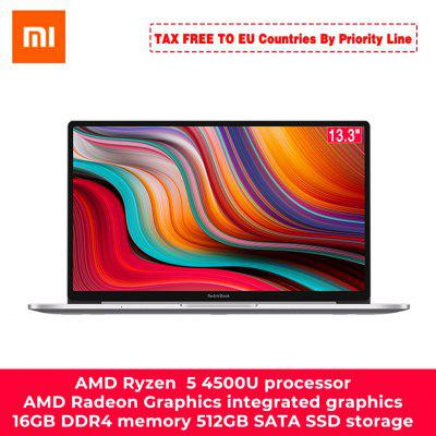 Xiaomi RedmiBook 13 Laptop Ryzen Edition With AMD Ryzen 4700U/4500U 13.3 Inch Display Type C Charge 8GB/16GB DDR4 1TB/512GB SSD Notebook Windows 10 Image