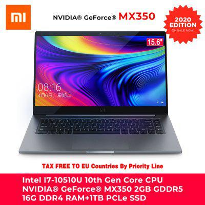2020 Edition Xiaomi Mi Laptop Pro 15.6 Inch i7-10510U / i5-10210U GeForce NVIDIA MX350 With 16GB/8GB RAM 512/1TB SSD 100% sRGB Computer Notebook Image