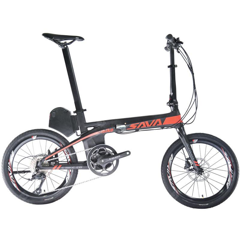 SAVADECK Folding Elecitrc Bike Carbon Fiber Elecitrc Folding Bike with SHIMANO SORA 9 speeds