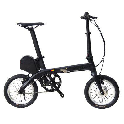 SAVADECK E0 Electric Folding Bike Ultra-light Carbon Fiber 14 Inch Mini Electric Bicycle 36V 180W Image