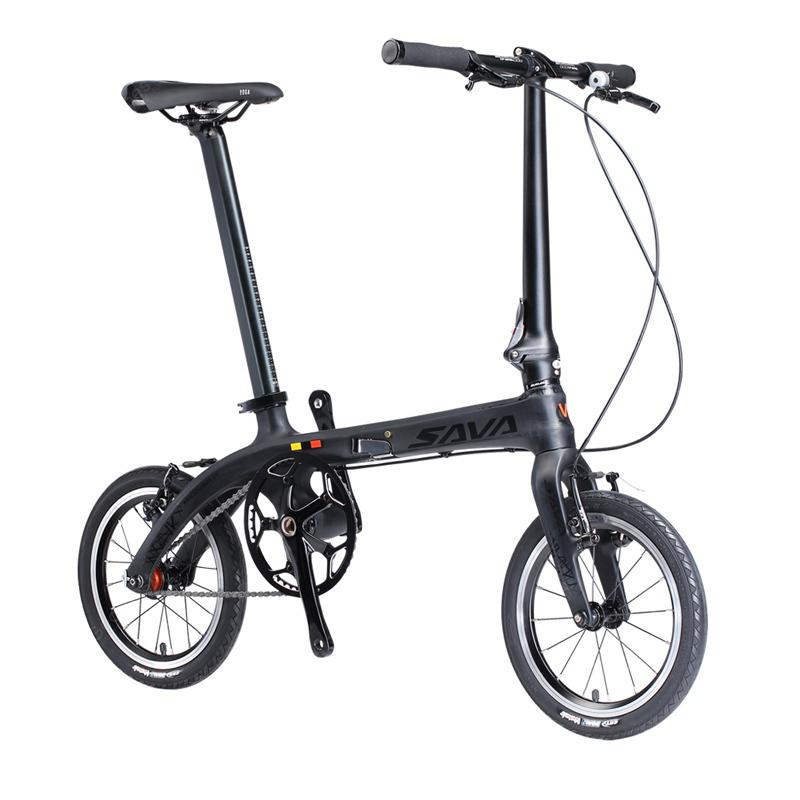 SAVADECK Z0 Carbon Fiber Folding Bike 14 inches Mini Ultra-light Carbon Folding Bicycle 6.7kg - Poland ?entrep�t EU) 3%commissions