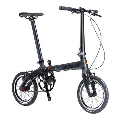 SAVADECK Z0 Carbon Fiber Folding Bike 14 inches Mini Ultra-light Carbon Folding Bicycle 6.7kg Image