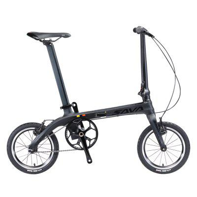 SAVADECK Z0 Carbon Fiber Folding Bike 14 inches Mini Ultra-light Carbon Folding Bicycle 6.7kg