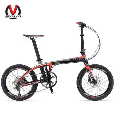 SAVA Z1 Folding Bike 20 Inches Carbon Fiber Folding Bike Adult Folding Bicycle with SHIMANO