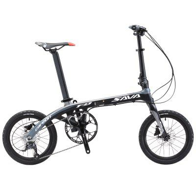 SAVA Folding Bike 16 Inches Carbon Fiber Mini Folding Bicycle for Adult Folding Bike with SHIMANO