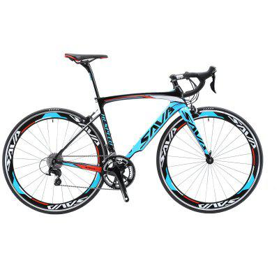 SAVA Windwar Road Bike Carbon Fiber Road bike with SHIMANO SORA 18 speeds Racing Road Biccycle Image