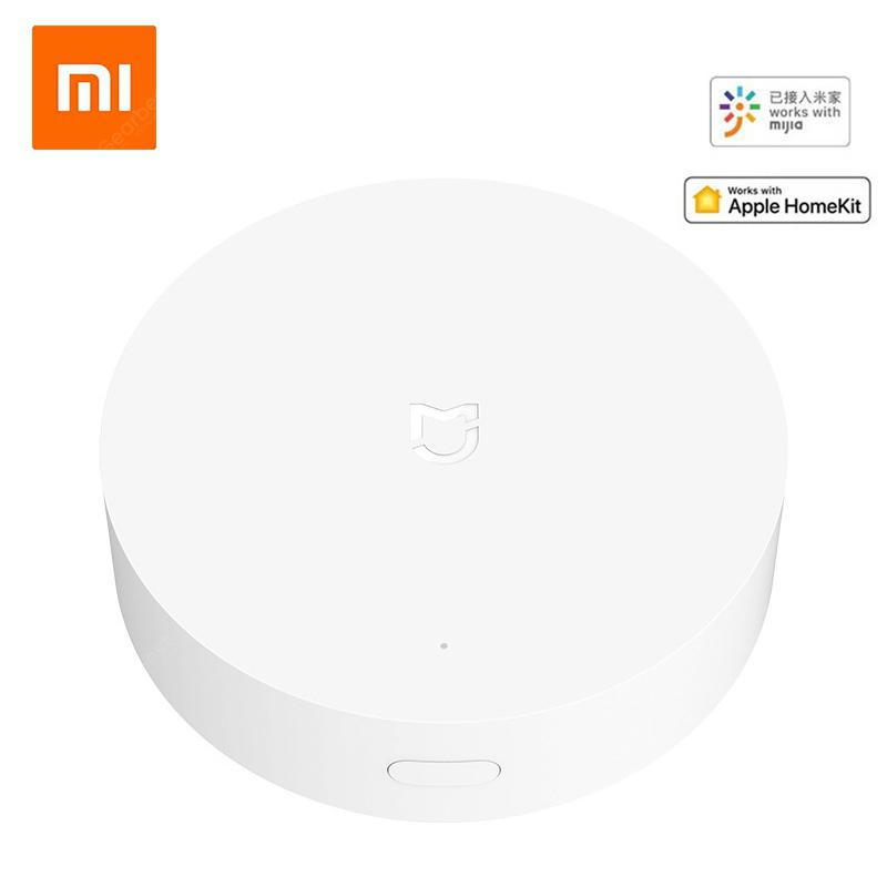Newest Xiaomi Mijia Gateway Multimode Smart Home ZigBee WIFI Work With Mijia APP Apple Homekit - Add Small EU Adapter China
