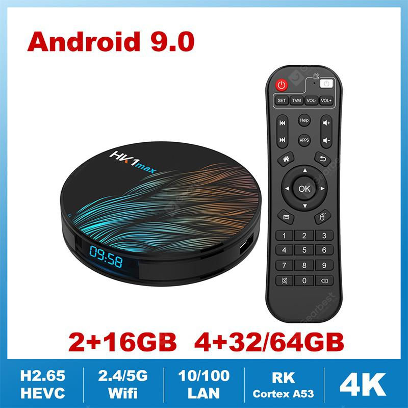HK1MAX Smart TV Box Quad Core 2.4G 5G Wifi BT 4.0 DDR3 Netflix 4K HDR Media Player
