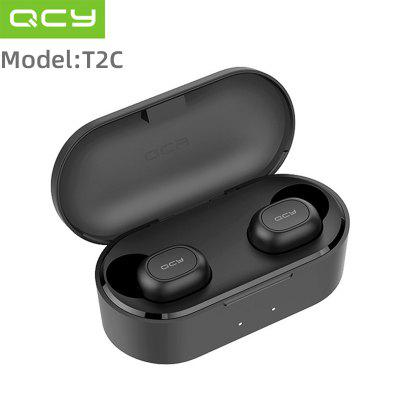 QCY T2C QS2 TWS Bluetooth V5.0 Headphones 3D Stereo Sports Wireless Earphones with Dual Microphone