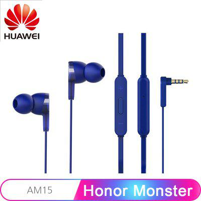 Original Honor Monster Earphone AM15 3.5mm In-Ear with Remote and Microphone Wire Control