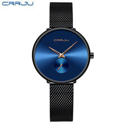 CRRJU Watch Luxury Casual Simple Ladies Mesh Wristwatch Minimalist Waterproof Quartz Female Clock