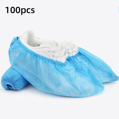 100 Pcs Disposable Shoe Covers Indoor Cleaning Floor Non-Woven Fabric Overshoes For Women Men