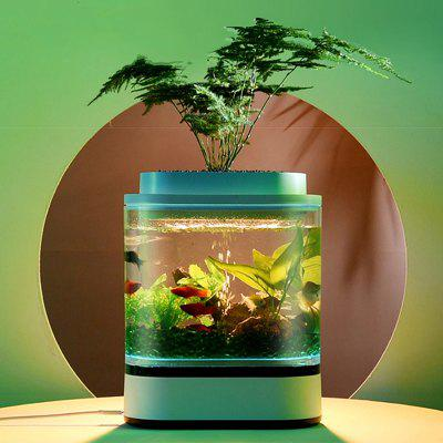 Geometry Fish Tank Self-cleaning Aquarium With Oxygen Pump Filter Home Aquarium from Xiaomi youpin