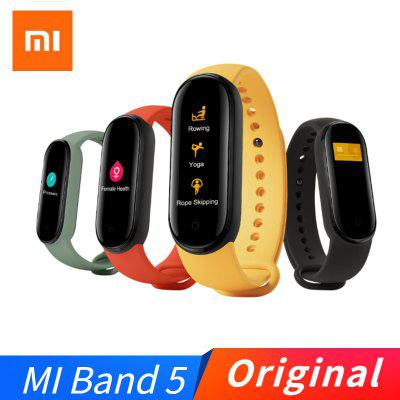 Original  Xiaomi Mi Band 5 AI Voice Assistant Heart Rate Sleep Step Swim Sport Monitor APP Push Reminder Alarm