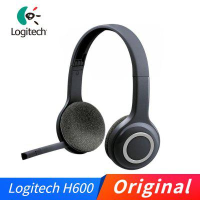 Logitech H600 Headset Foldable 2.4GHz Wireless Stereo Gaming Headphone With Rotating Mic USB Nano Receiver For Desktop Laptop PC