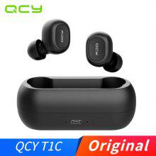 QCY T1C Wireless Bluetooth Earphones Headset 3D Stereo Sound Earbuds with Charging box