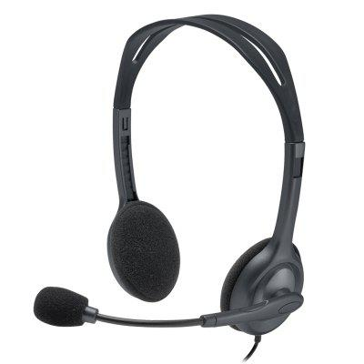Original Logitech H111 Stereo Headset with Microphone 3.5mm Wired Headphones Headsets Noise reduction For Gamer Gaming