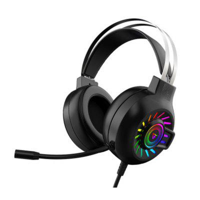2021 Hot Sales 7.1 Gaming Headset Wired Earphones Headphones with RGB Physical Light Surround