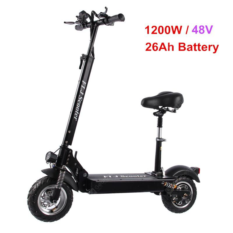 FLJ C11 1200W 10inch wheel Electric Scooter with seat electric bike hoverboard e scooter for adult - 26Ah battery with seat Germany (entrep�t EU) 5%commissions