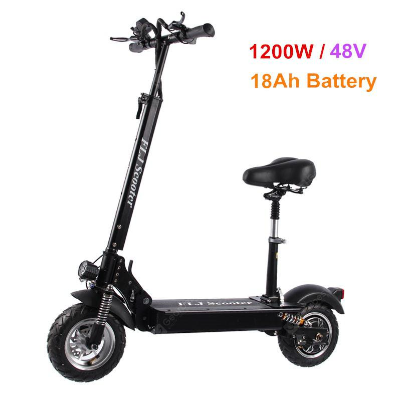 FLJ C11 1200W 10inch wheel Electric Scooter with seat electric bike hoverboard e scooter for adult - 18Ah battery with seat China