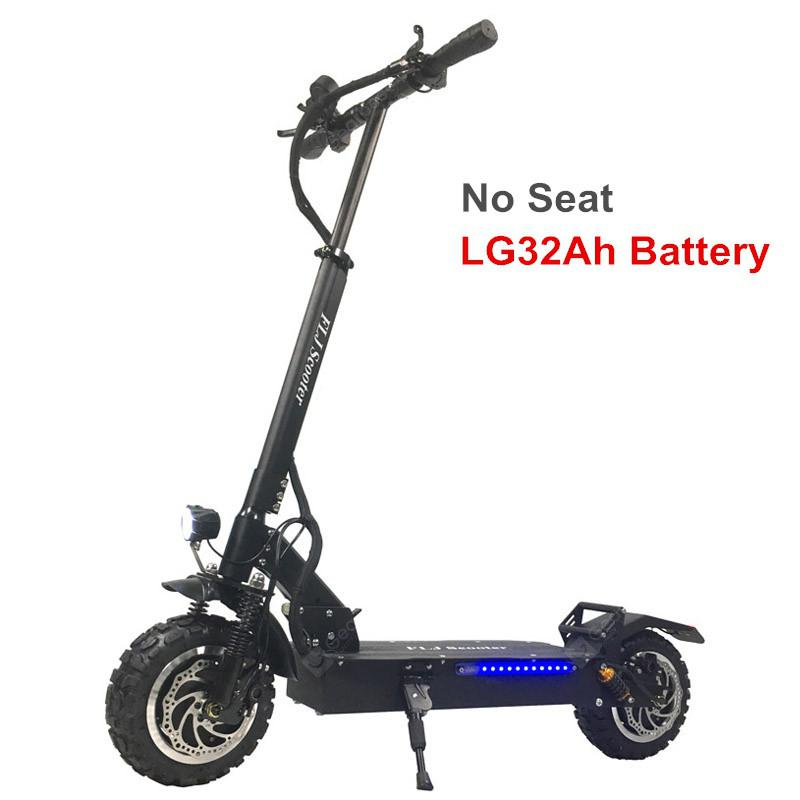 FLJ T113 11inch 60V 3200W Dual Motor Electric Scooter with Big Wheel Off Road Tire E Bikefor Adults  LG32Ah Battery No Seat Germany