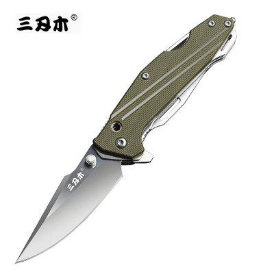 Sanrenmu 7116SUE Multifunctional Tools Army Combat Pocket Folding Saw Knife Green G10 Handle