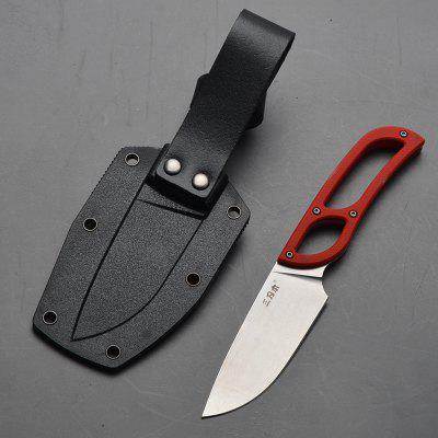 Sanrenmu S628 Fixed Blade Knife Small Outdoor Camping Knife With Scabbard Design Sheath