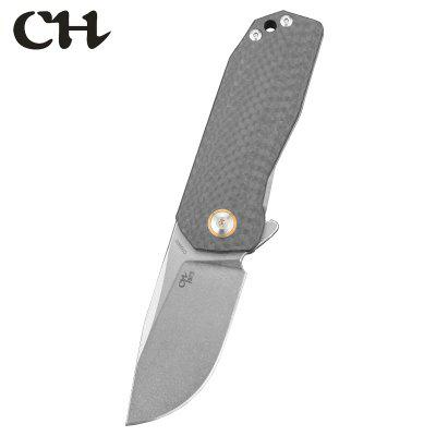CH 3005 Exquisite  Titanium Alloy And Carbon Fiber Handmade Knife D2 Blade Material Simple Practical Folding