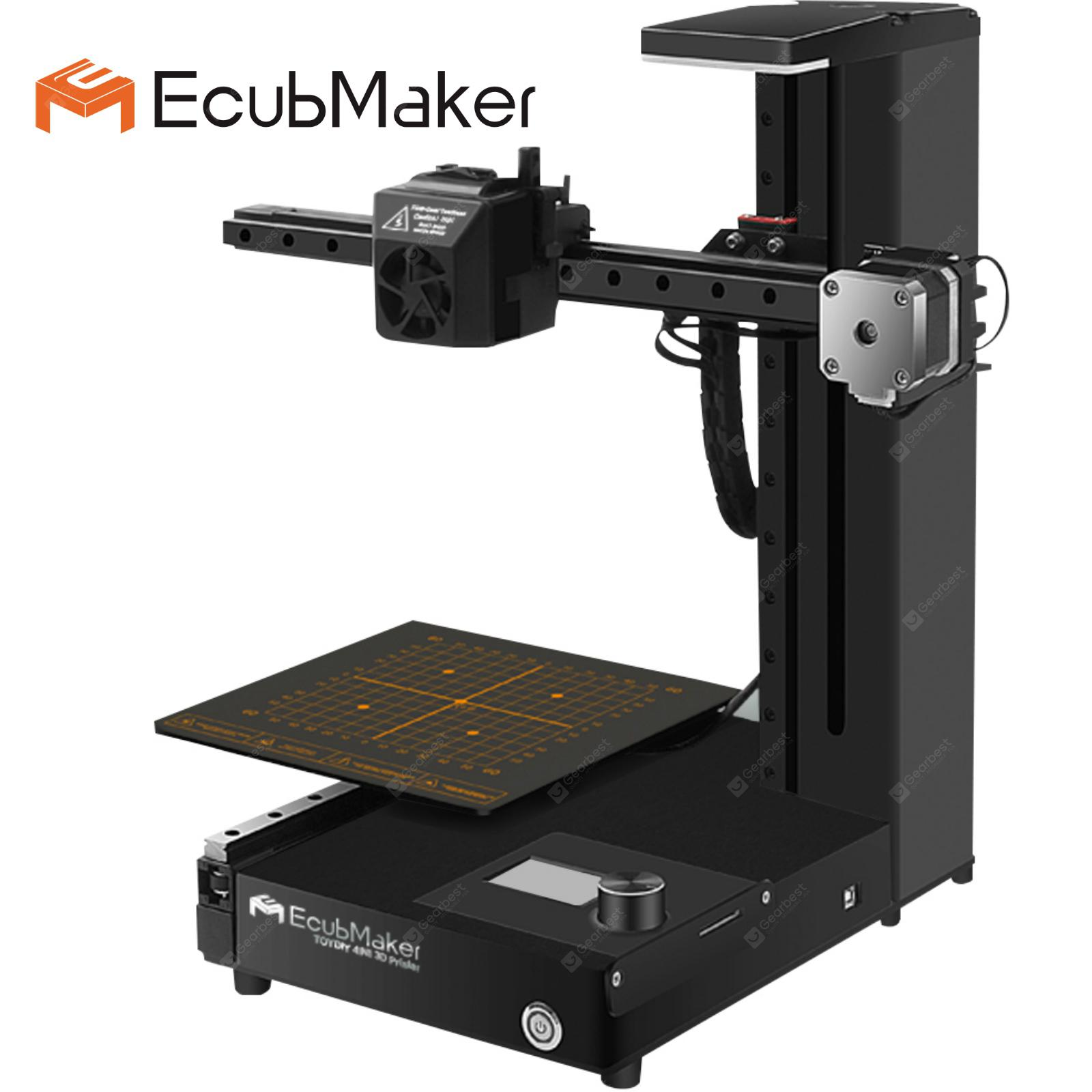 EcubMaker TOYDIY 4in1 3D Printer FDM Laser CNC Dual-FDM with Auto Leveling Heated Build Plate PLA