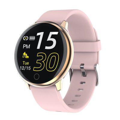 Full Round Touch Control Heart Rate Blood Pressure Physiological Monitor Smart Watch