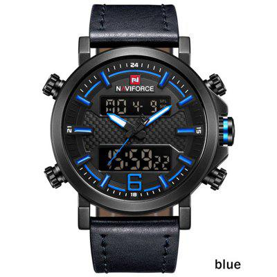 Top Luxury Brand Military Quartz Mens Watches LED Date Analog Digital Watch Men Fashion Sport Clock