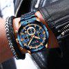 New Fashion Mens Watches with Stainless Steel Top Brand Luxury Sports Chronograph Quartz Watch Men