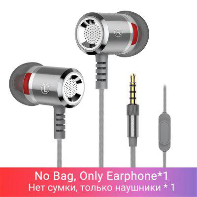 Langsdom Headphones in Ear Sport Wired for Phone Xiaomi Super Bass Headsets with Mic Hifi Earbuds