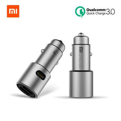 Original Xiaomi Car Charger Mi Quick Charge 18W QC 3.0 Dual USB Max 36W Metal For iPhone Android