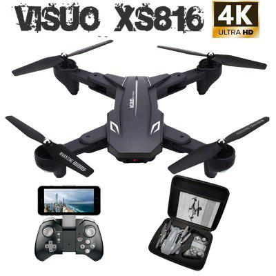 Visuo XS816 RC Drone with 50 Times Zoom WiFi FPV 4K Dual Camera Optical Flow Quadcopter Selfie Drone