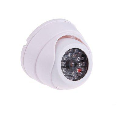 Simulation Security Dome Dummy Fake Camera with Red Flashing LED Light Indoor Outdoor Safety camera