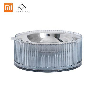 Xiaomi Stainles Steel Heatable Cat Bowl Pet Dog Food Drink Water Tilted Feeder anti overflow shallow
