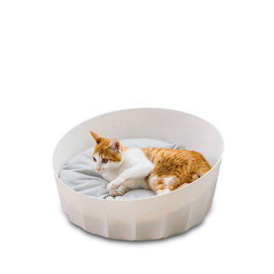 Jordan Judy Pet Nest Bed Round Soft Material Pets Baskets White Keep Warming From Xiaomi Youpin