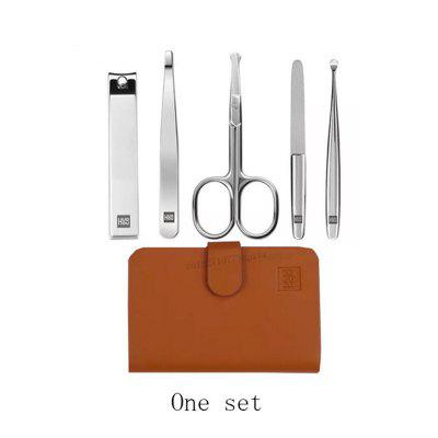 Xiaomi Mijia Huohou Manicure Nail Clippers Nose Hair Trimmer Stainless Steel Nail Cutter Tool Set