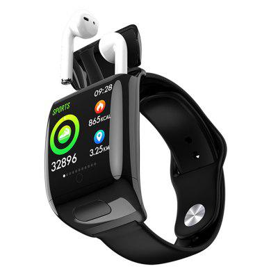 G36 Smart Watch Bluetooth Earphone 2 in 1 BT 5.0 Men Women Smart Watch BT Call Siri Hear Rate Blood Pressure for Bracelet Image