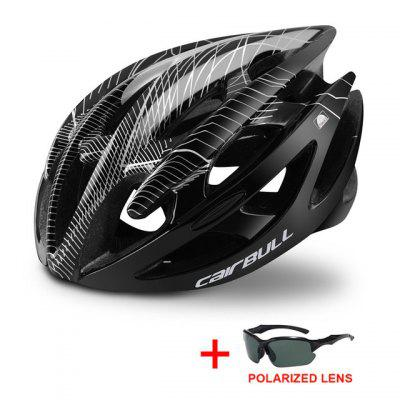 Professional Road Mountain Bike Helmet with Glasses Ultralight DH MTB All-terrain Bicycle Sports Riding Cycling