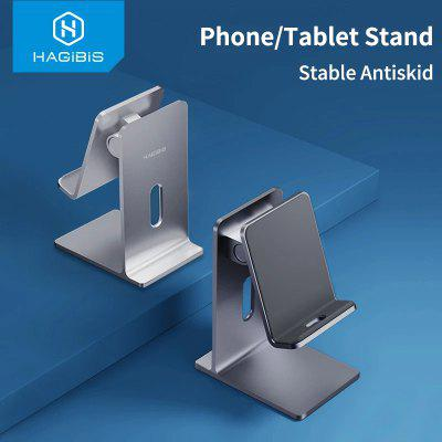 Hagibis Mobile Phone Holder Stand Tablet stand Foldable Cell Portable Desk Aluminum Adjustable for iPhone iPad Pro