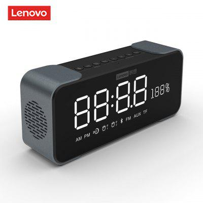 Original Lenovo BT Speaker Radio Alarm Clock Digital DIY Ringtone One-Click Snooze Call FM for Bedroom