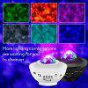 LED Star Galaxy Projector Ocean Wave Night Light Music Player Remote Rotating Starry Sky Porjector Decoration Bedroom Lamp Gifts