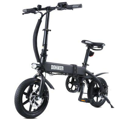 DOHIKER KSB14 Electric Folding Bike 250W 36V 10AH 25km/h Moped City E-Bike with 14inch Wheels_PL Stock