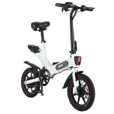 DOHIKER Y1 Electric Folding Bike 14 inch wheels 350W 25km/h City with 36V 10Ah Battery LED Headlight - Poland