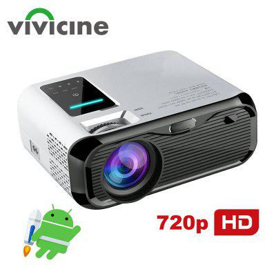 VIVICINE Newest 720p Portable LED Projector Option Android Handheld Home Theater Video Game Beamer