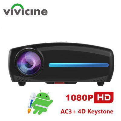 Vivicine S2 Newest 1080p Projector Option Android 9. 0 Full HD LED Home Theater Video Projector