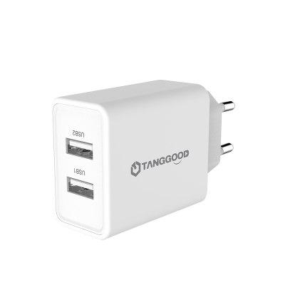 TANGGOOD Dual USB Charger 5V 3.4A 17W 2-Port Wall Charger Adapter Universal Mobile Charger